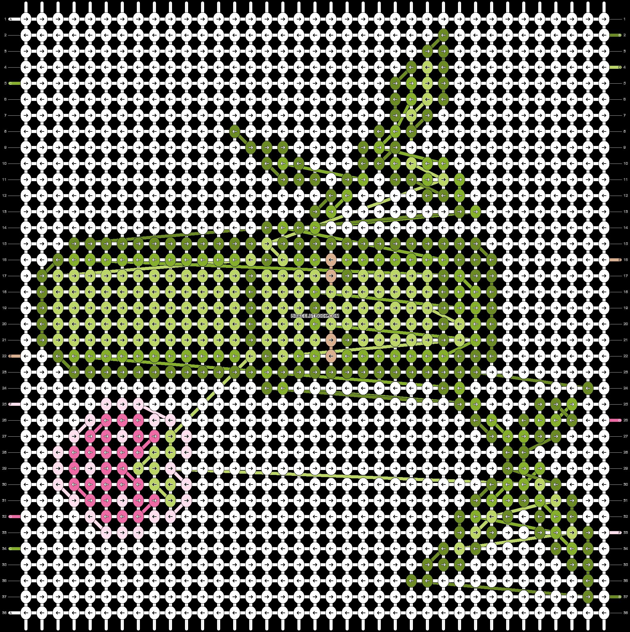 Alpha pattern #523 pattern
