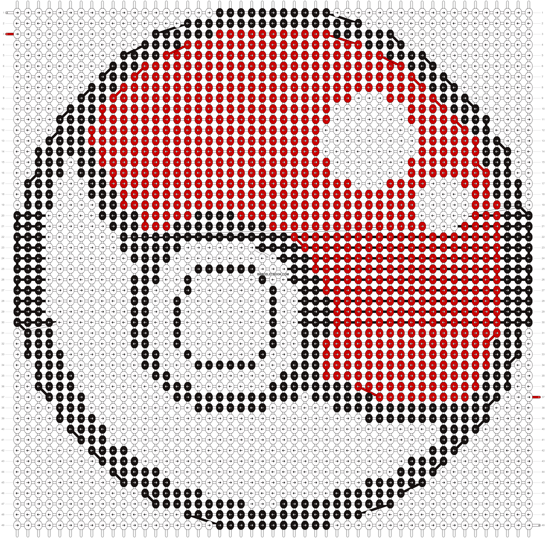 Alpha pattern #535 pattern