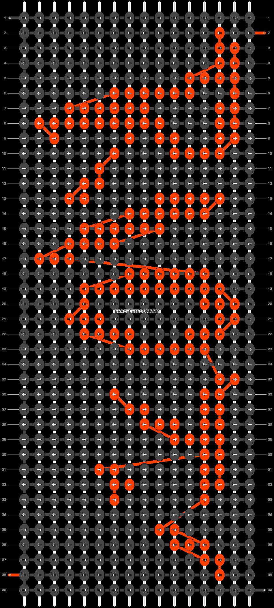 Alpha pattern #547 pattern