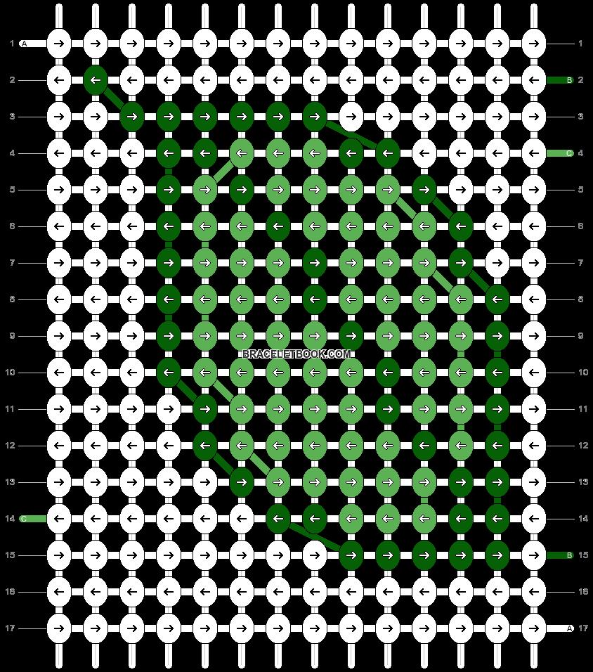 Alpha pattern #548 pattern