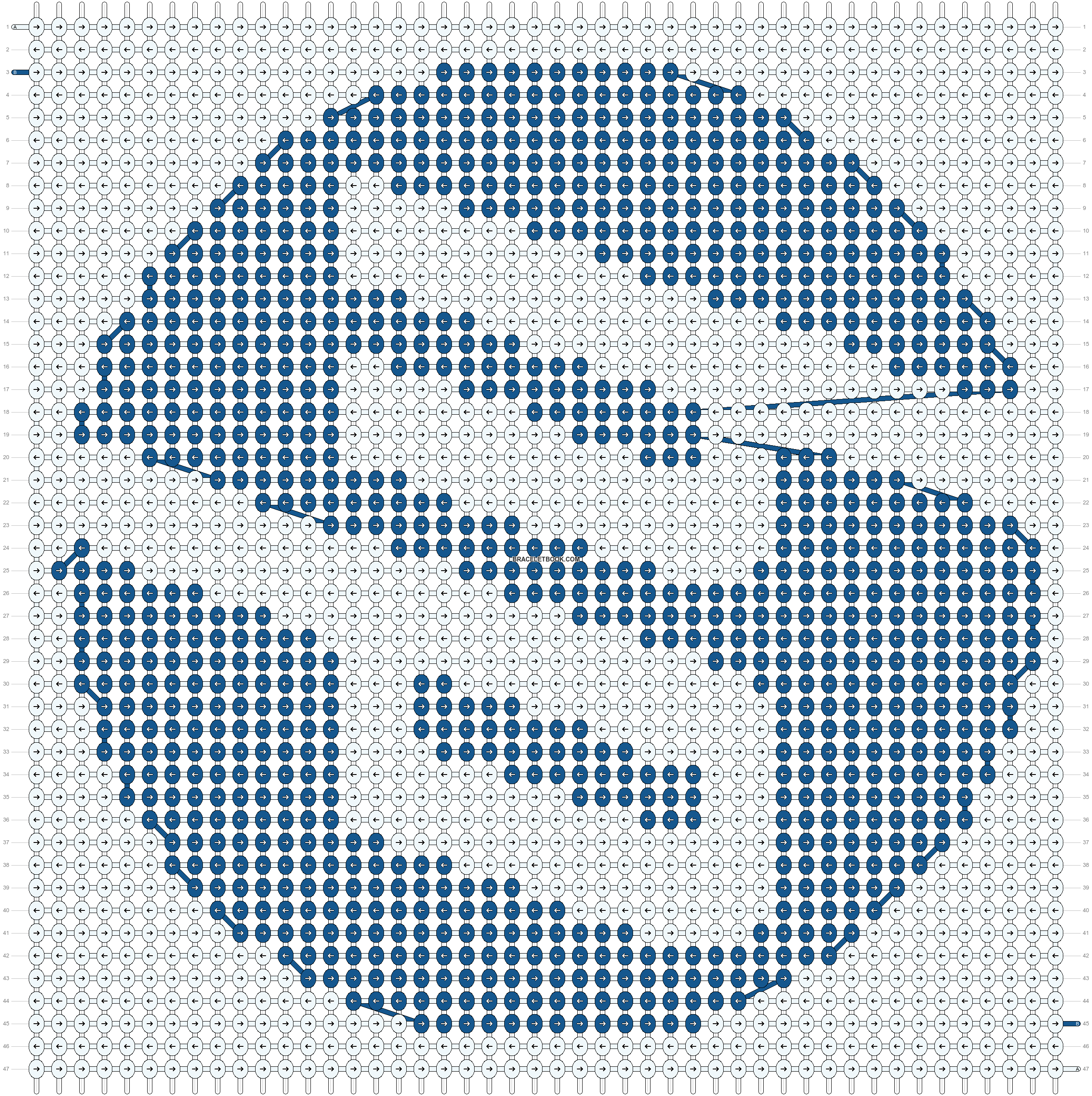 Alpha pattern #563 pattern