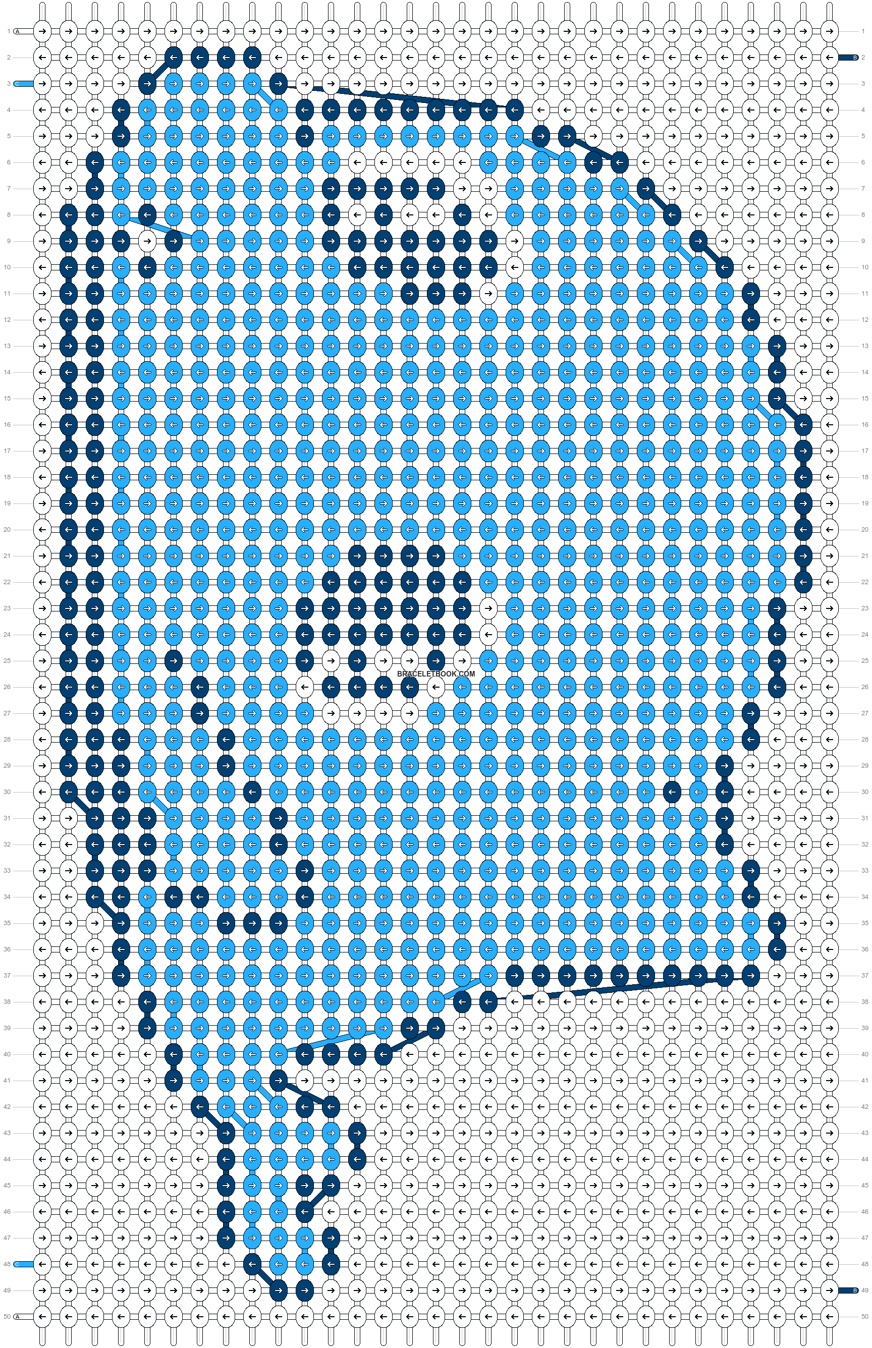 Alpha pattern #580 pattern