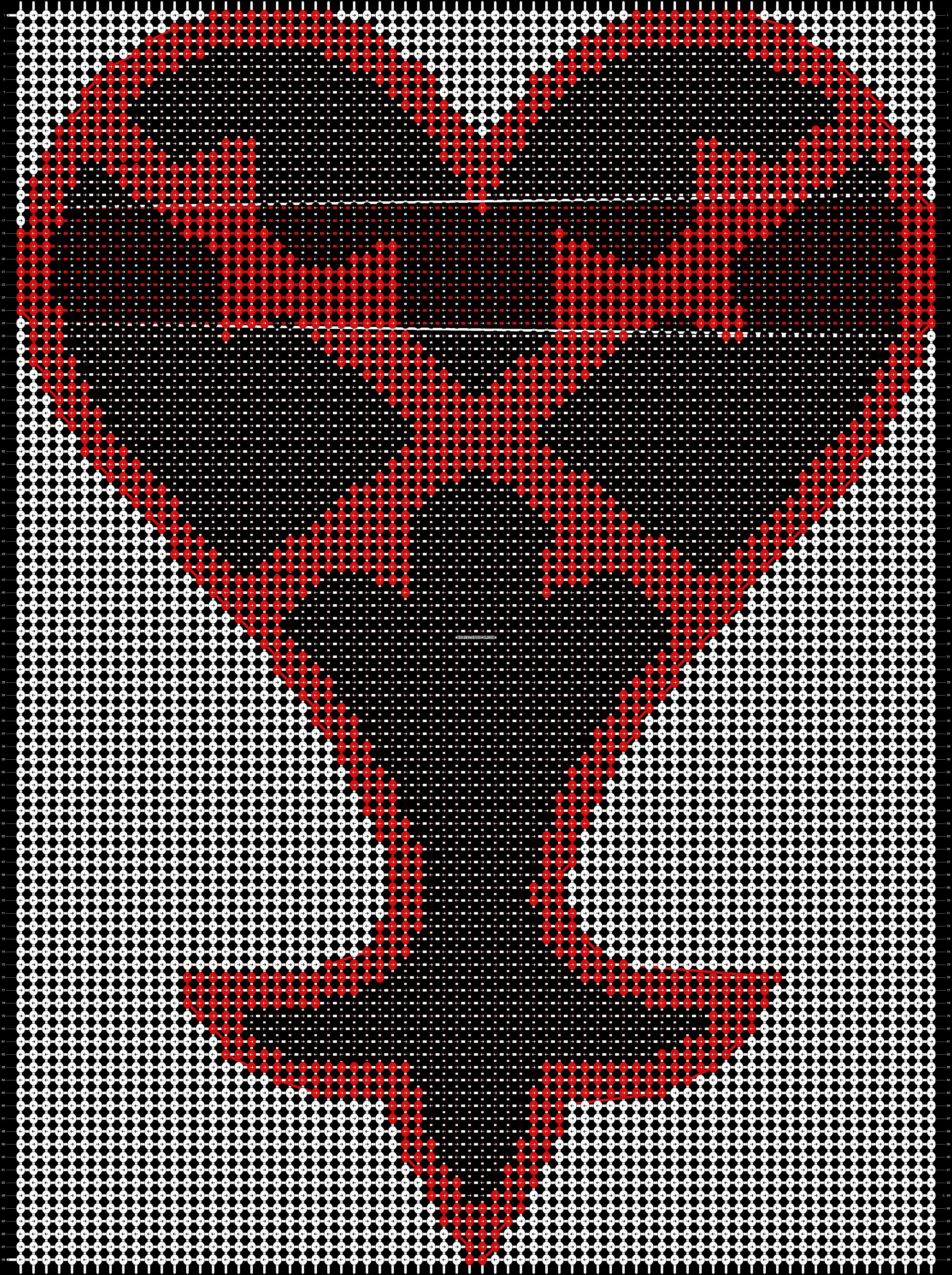 Alpha pattern #623 pattern