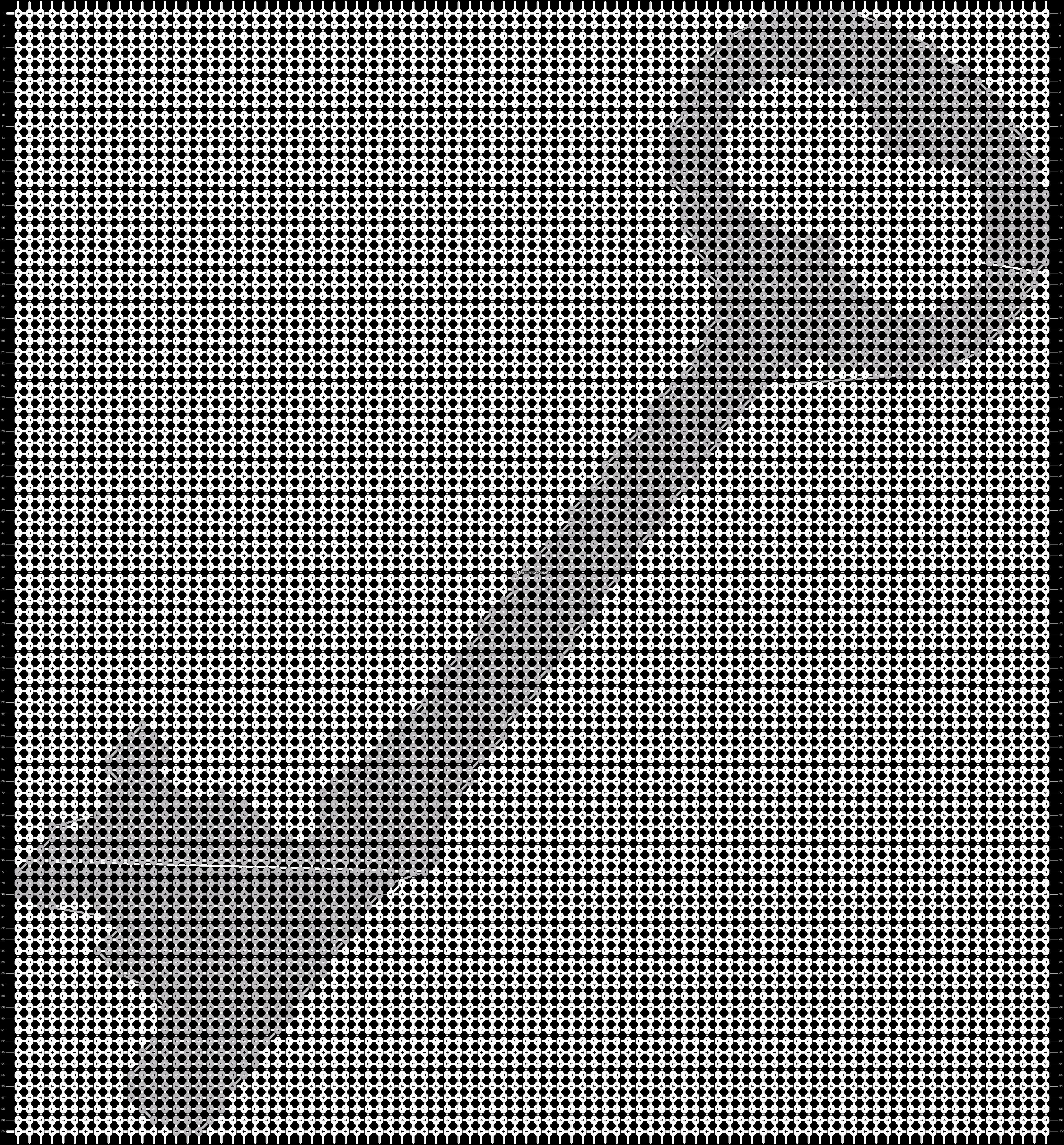 Alpha pattern #625 pattern