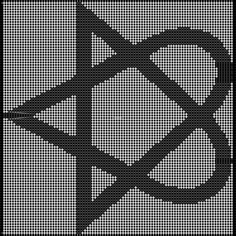 Alpha pattern #628 pattern