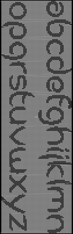 Alpha pattern #641 pattern