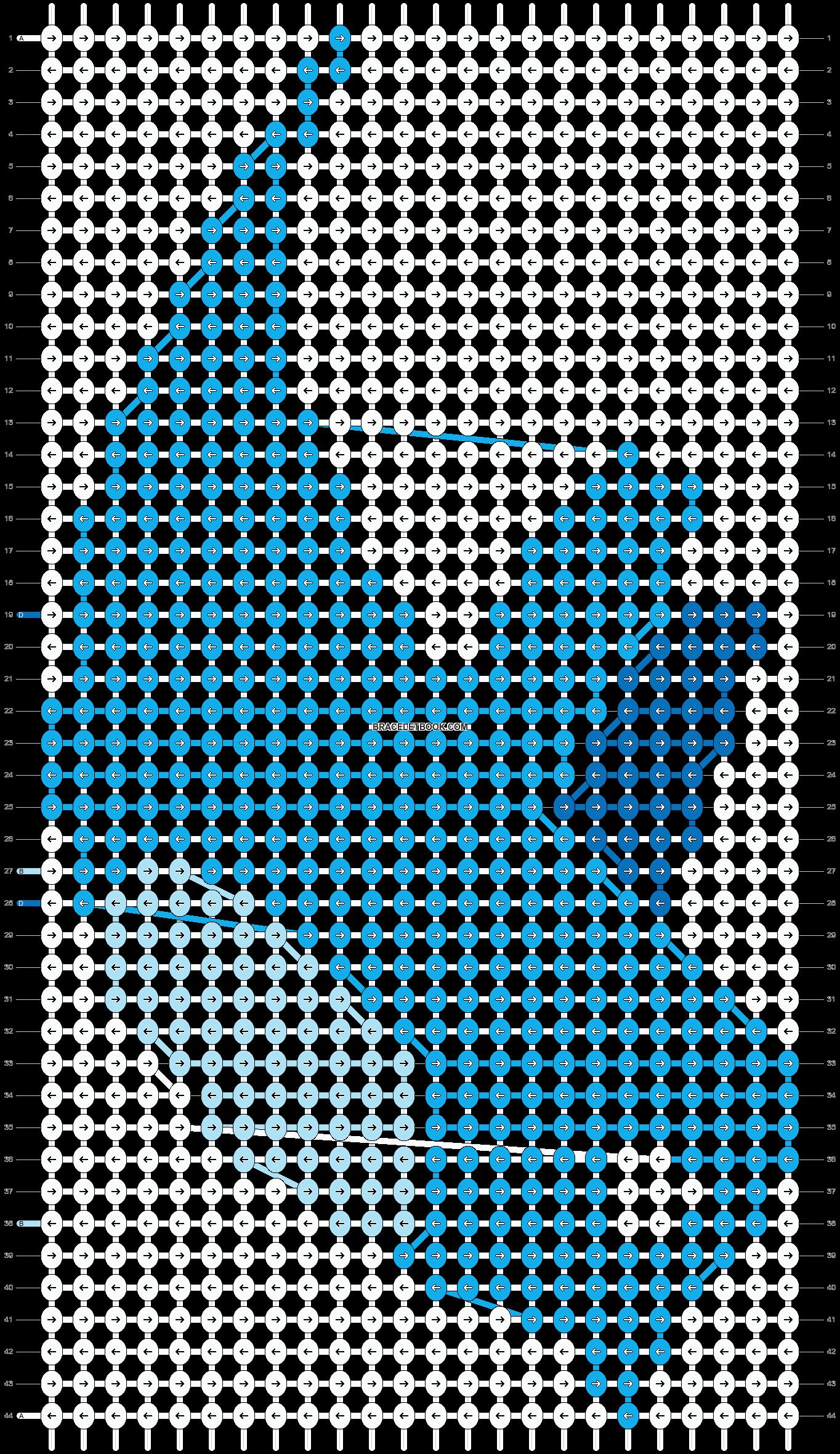Alpha pattern #658 pattern