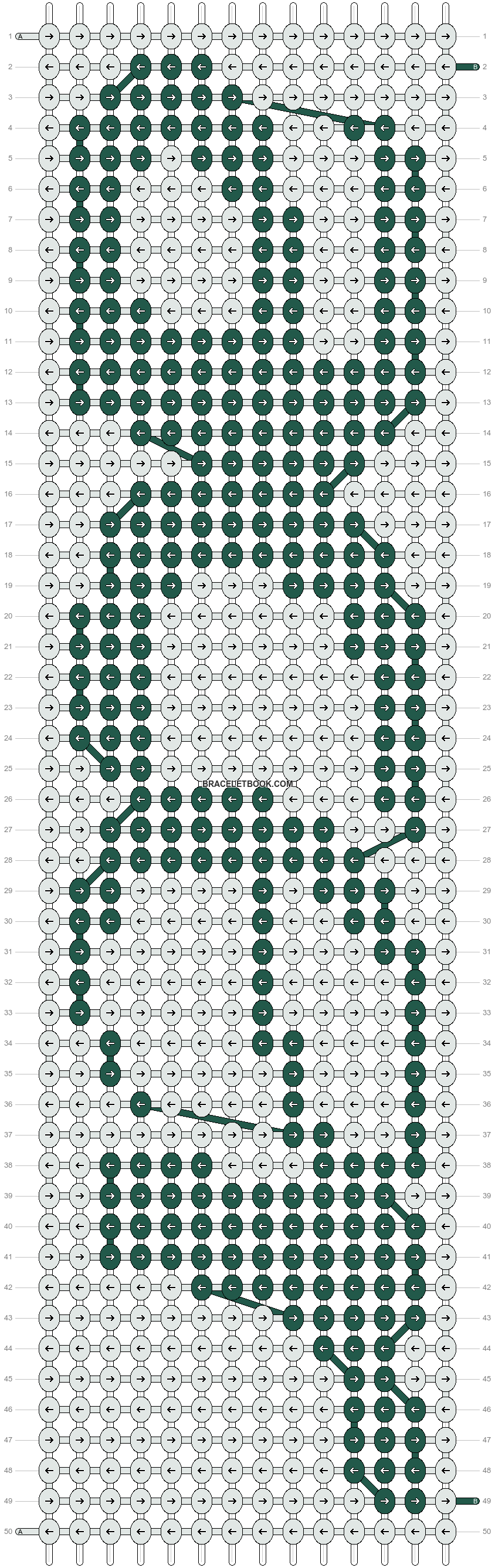 Alpha pattern #661 pattern