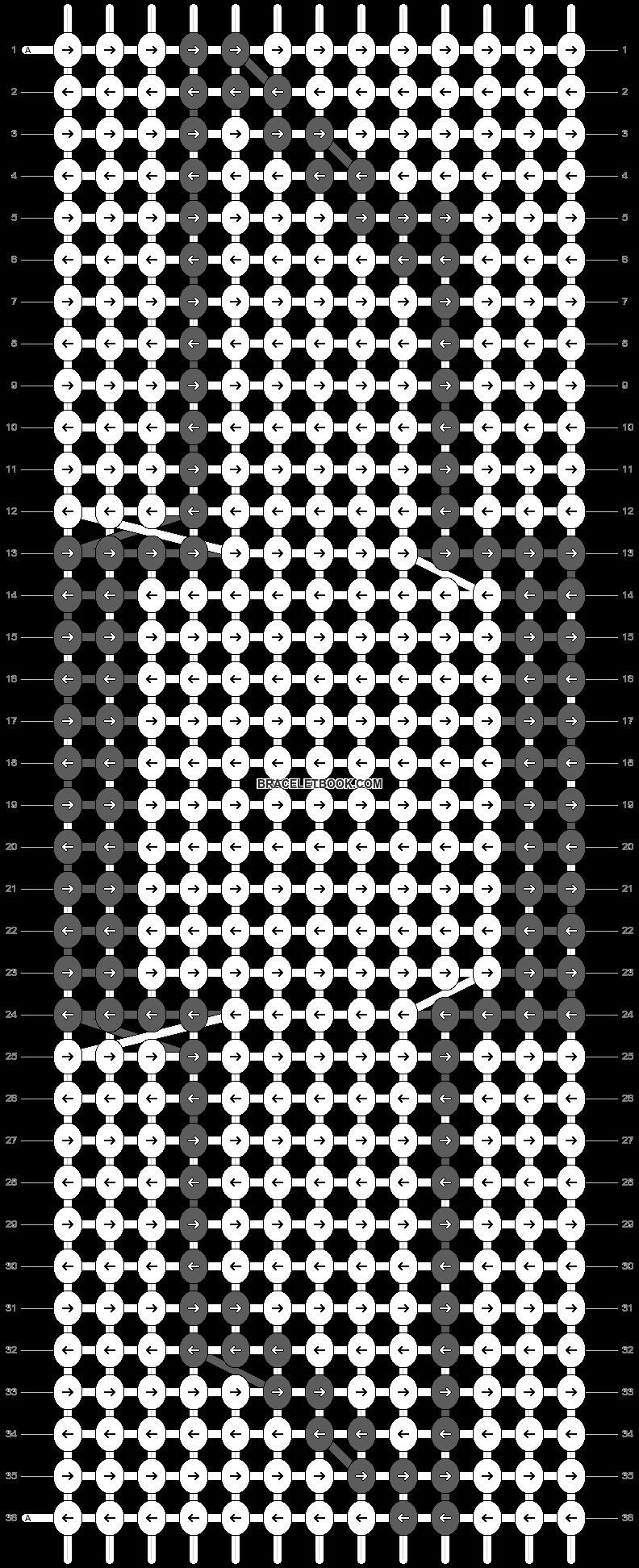 Alpha pattern #663 pattern