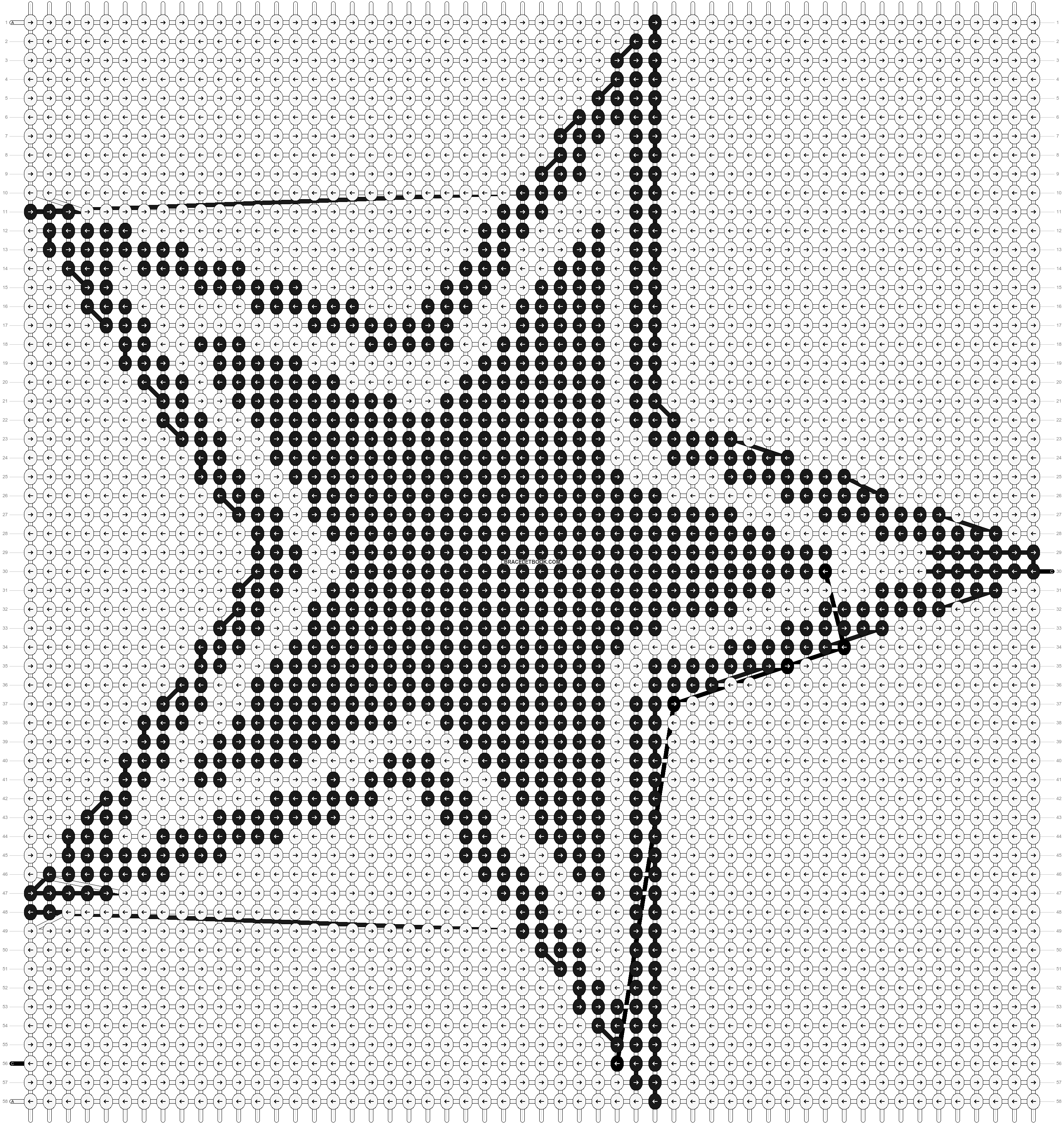 Alpha pattern #727 pattern