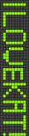 Alpha Friendship Bracelet Pattern #737