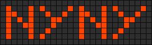 Alpha Friendship Bracelet Pattern #746