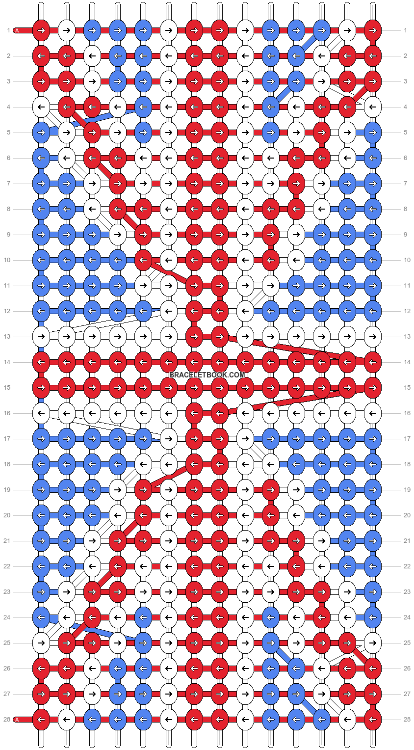 Alpha pattern #754 pattern