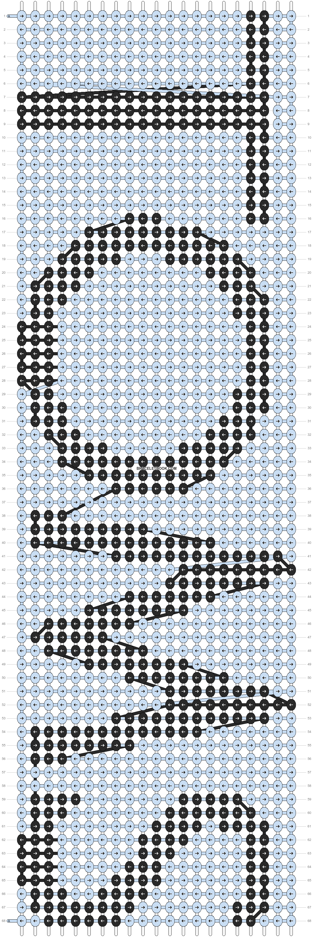 Alpha pattern #845 pattern