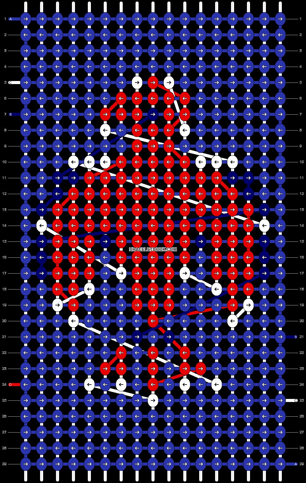 Alpha pattern #846 pattern