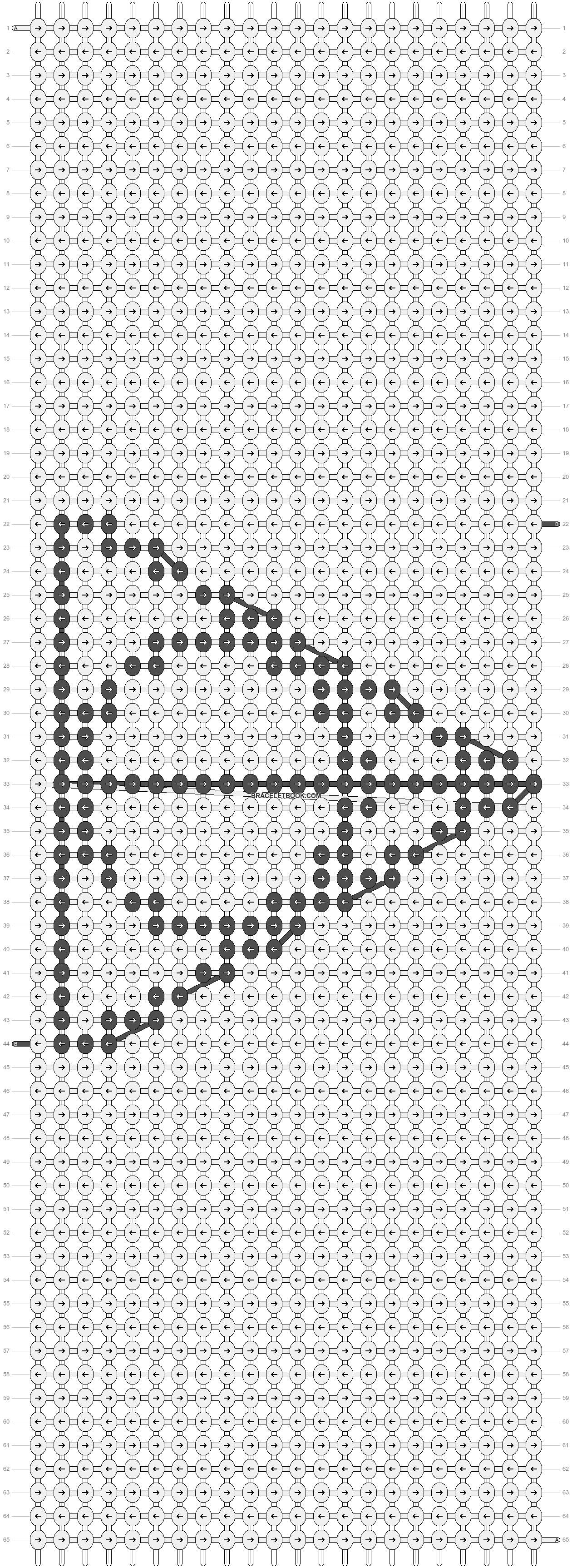 Alpha pattern #949 pattern
