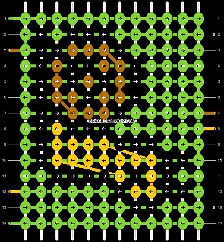 Alpha pattern #964 pattern