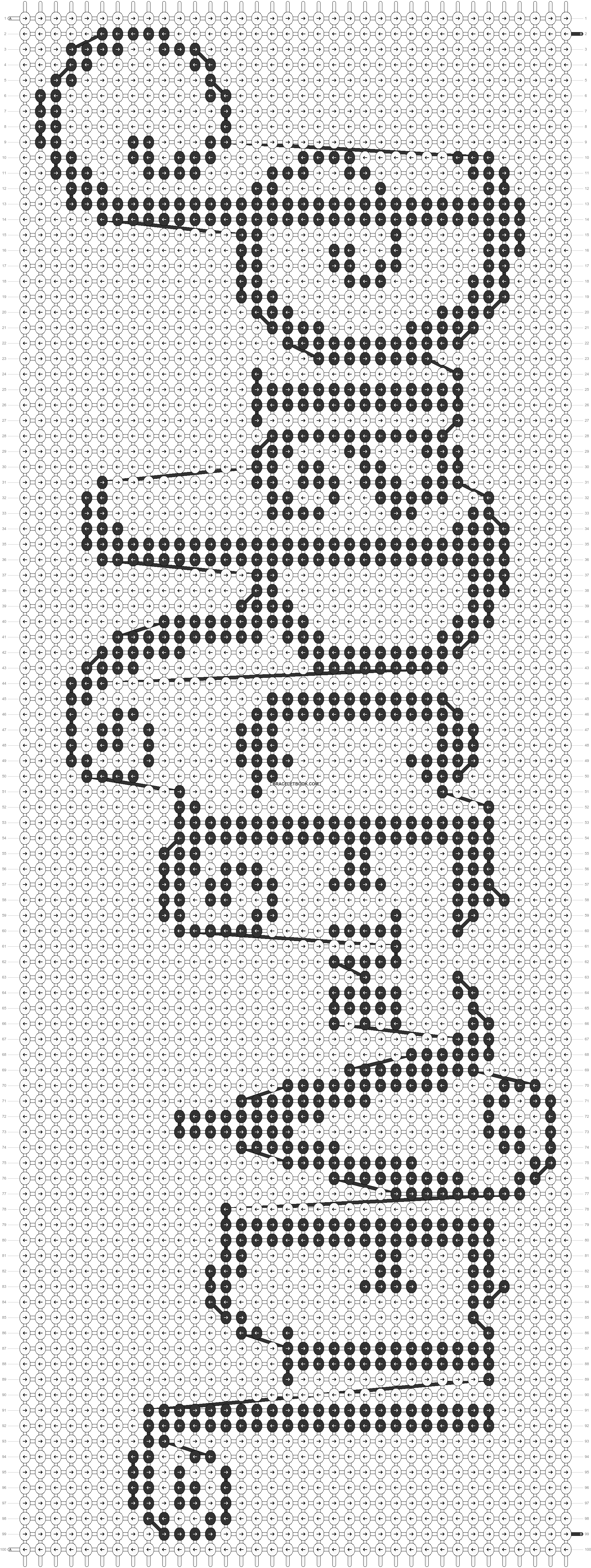 Alpha pattern #1045 pattern