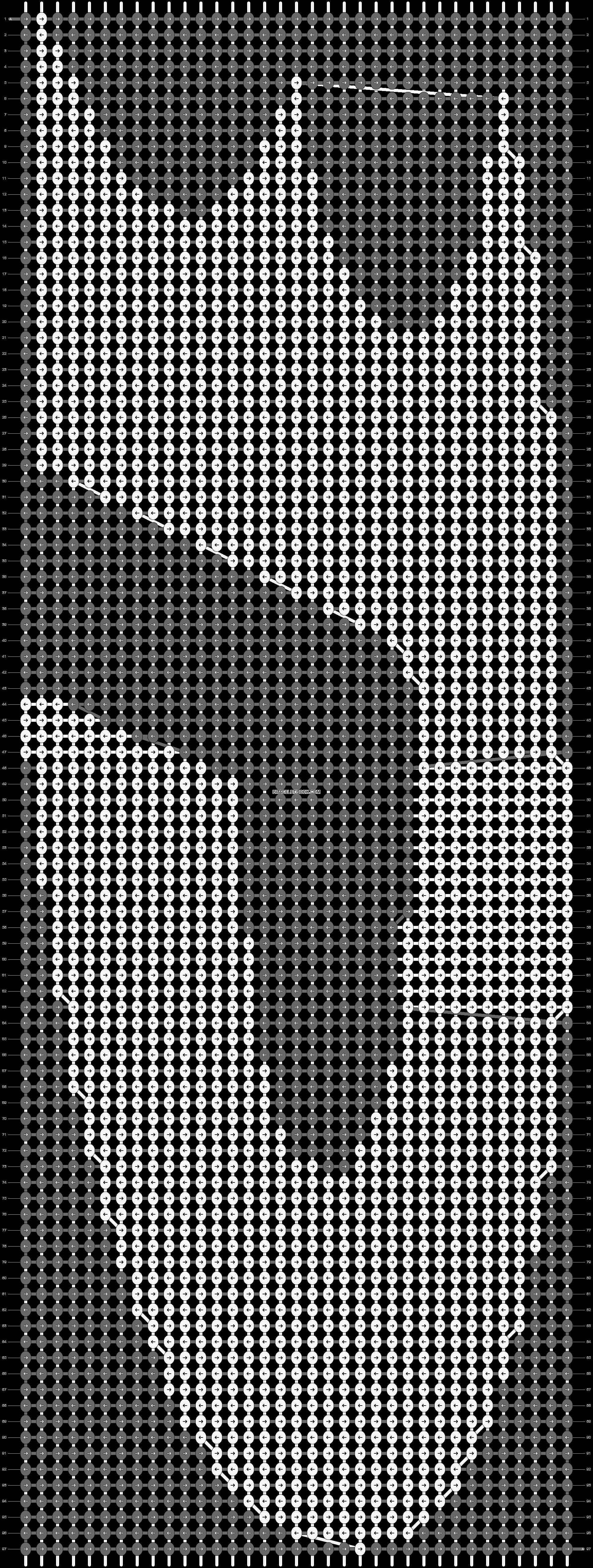 Alpha pattern #1083 pattern