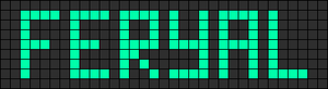 Alpha Friendship Bracelet Pattern #1086