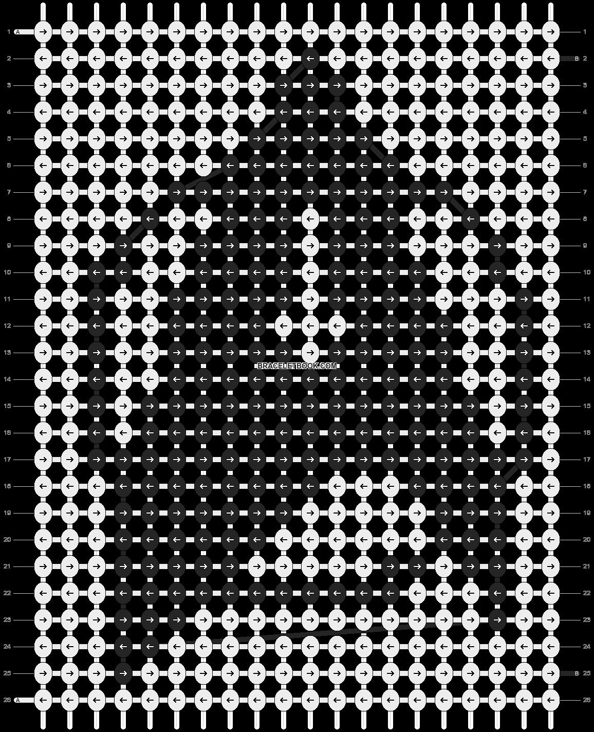 Alpha pattern #1092 pattern