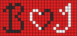 Alpha Friendship Bracelet Pattern #1093