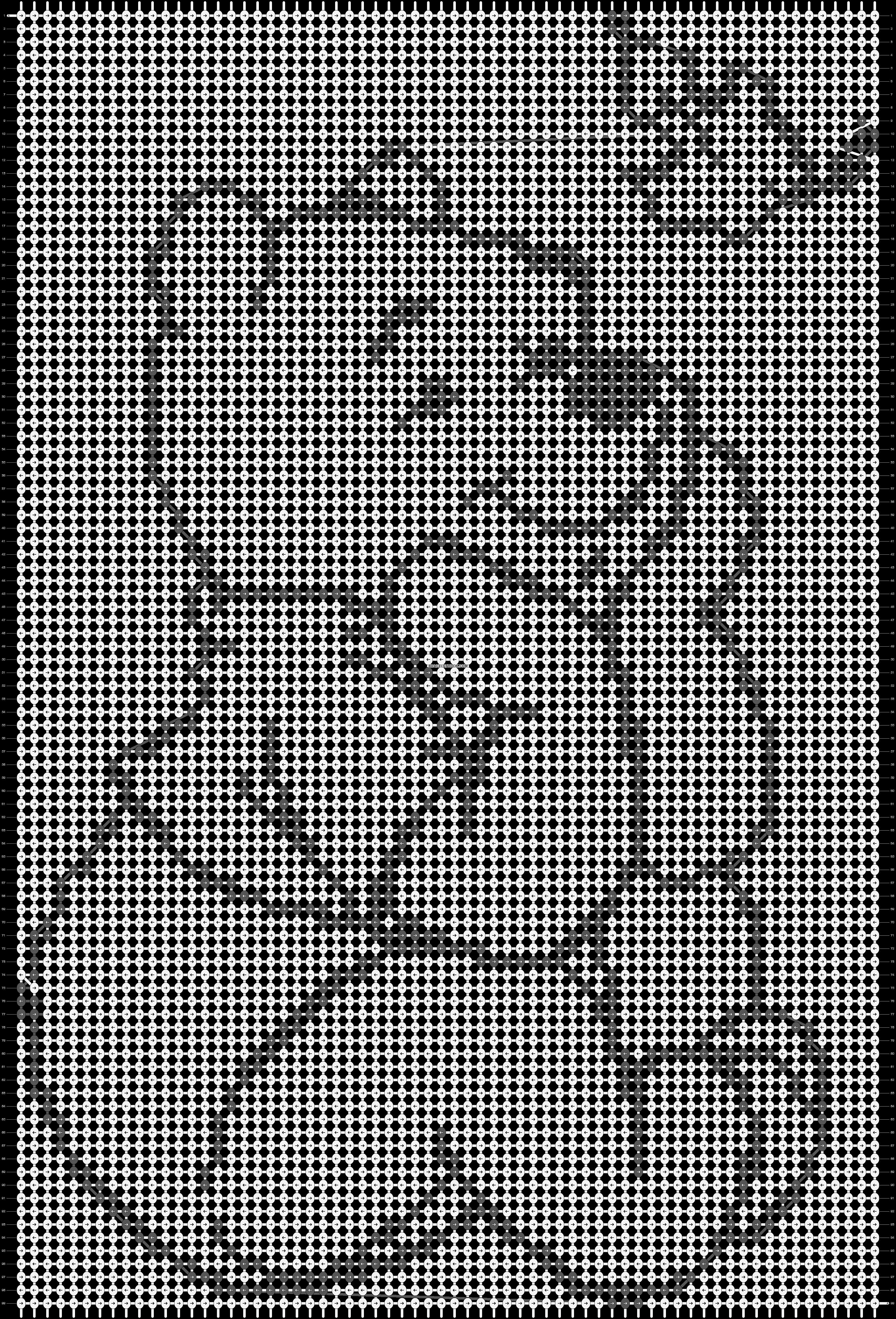Alpha pattern #1105 pattern