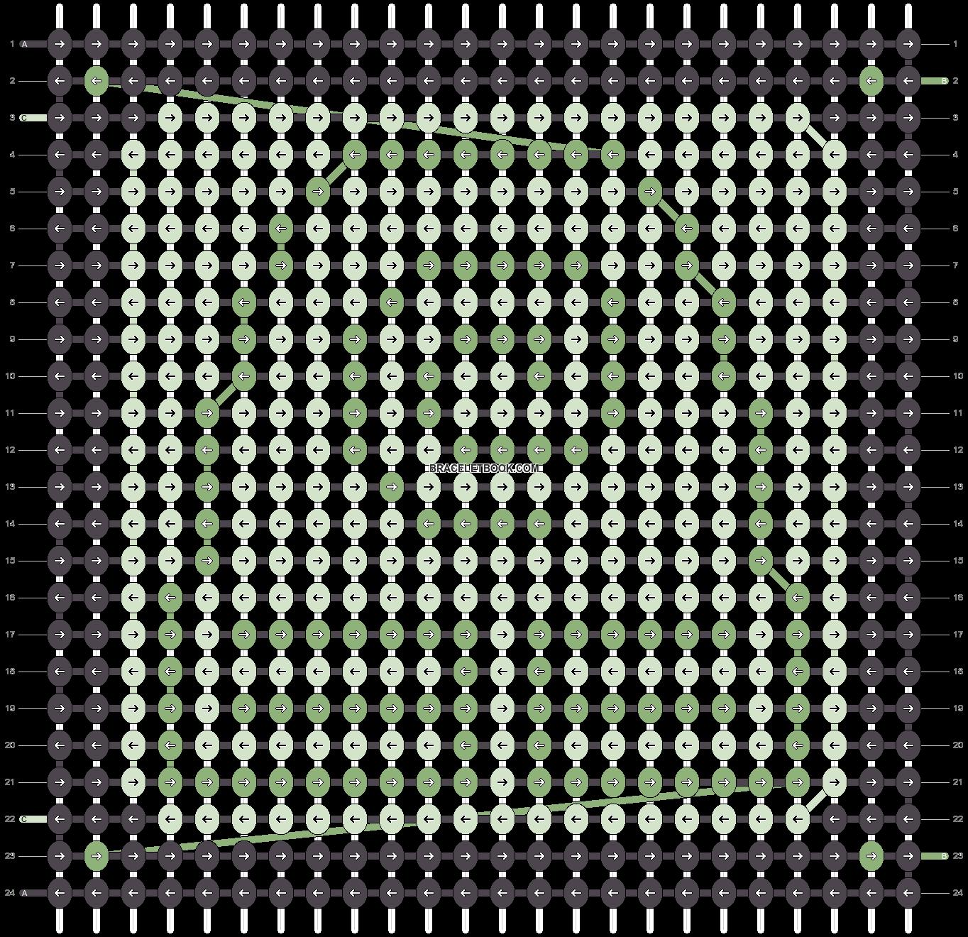 Alpha pattern #1131 pattern