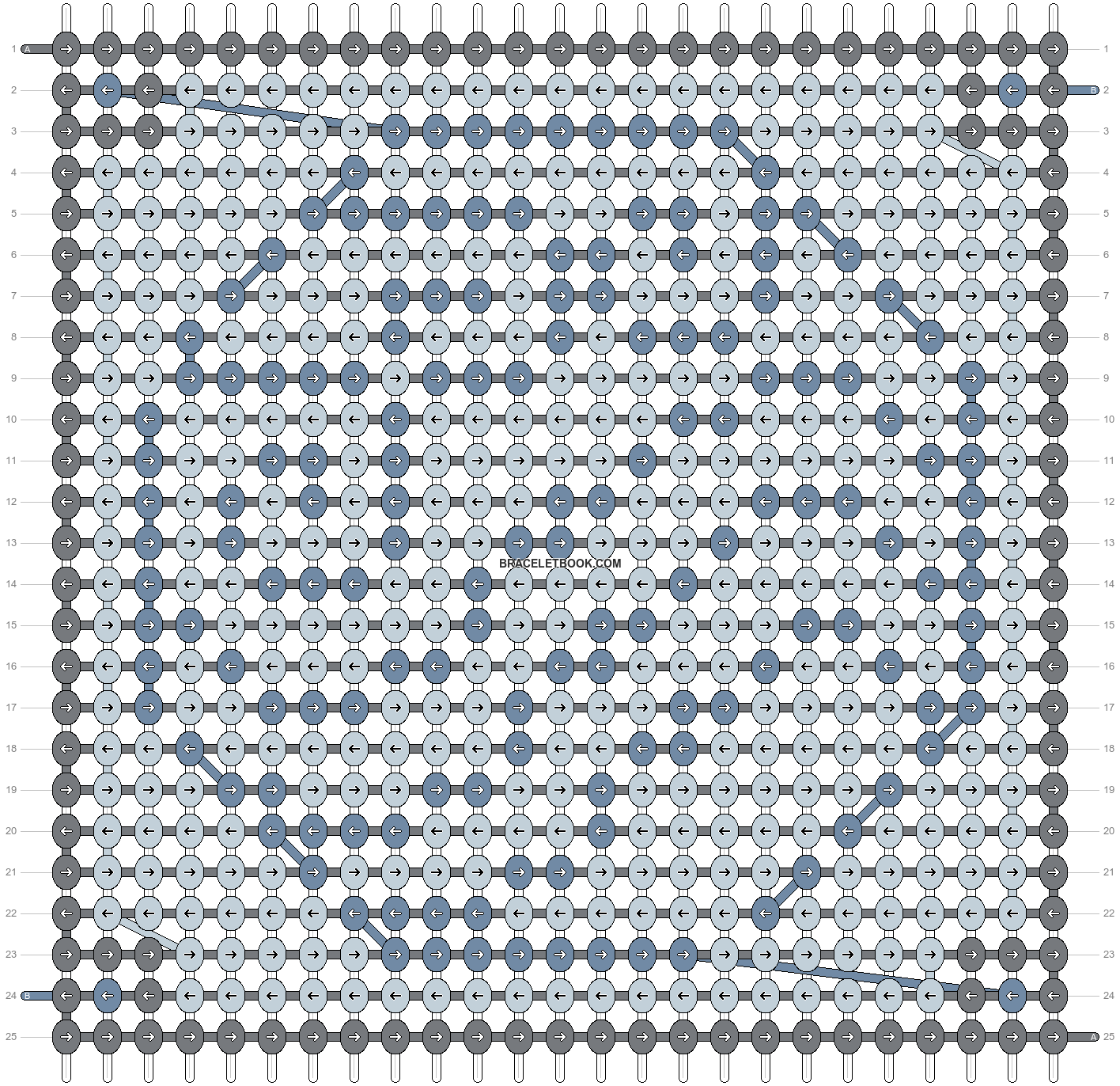 Alpha pattern #1134 pattern