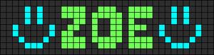 Alpha Friendship Bracelet Pattern #1205