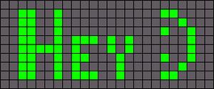 Alpha pattern #1230