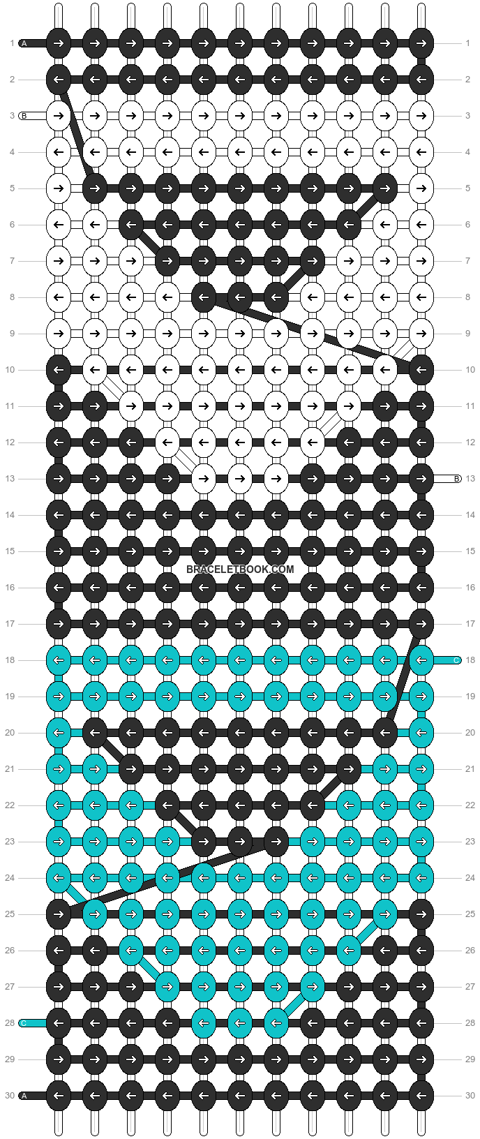 Alpha pattern #1306 pattern