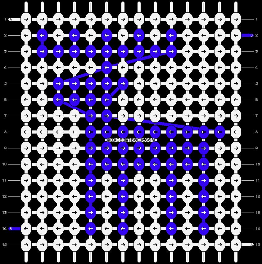 Alpha pattern #1355 pattern