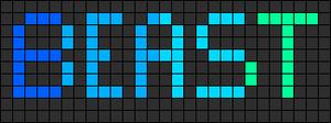 Alpha Friendship Bracelet Pattern #1405