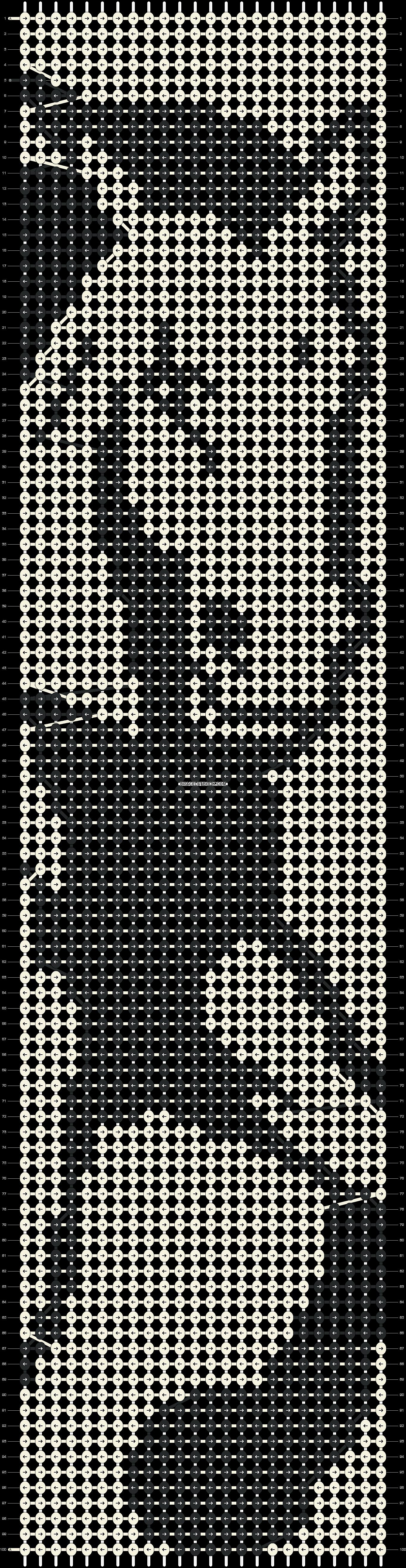Alpha pattern #1444 pattern