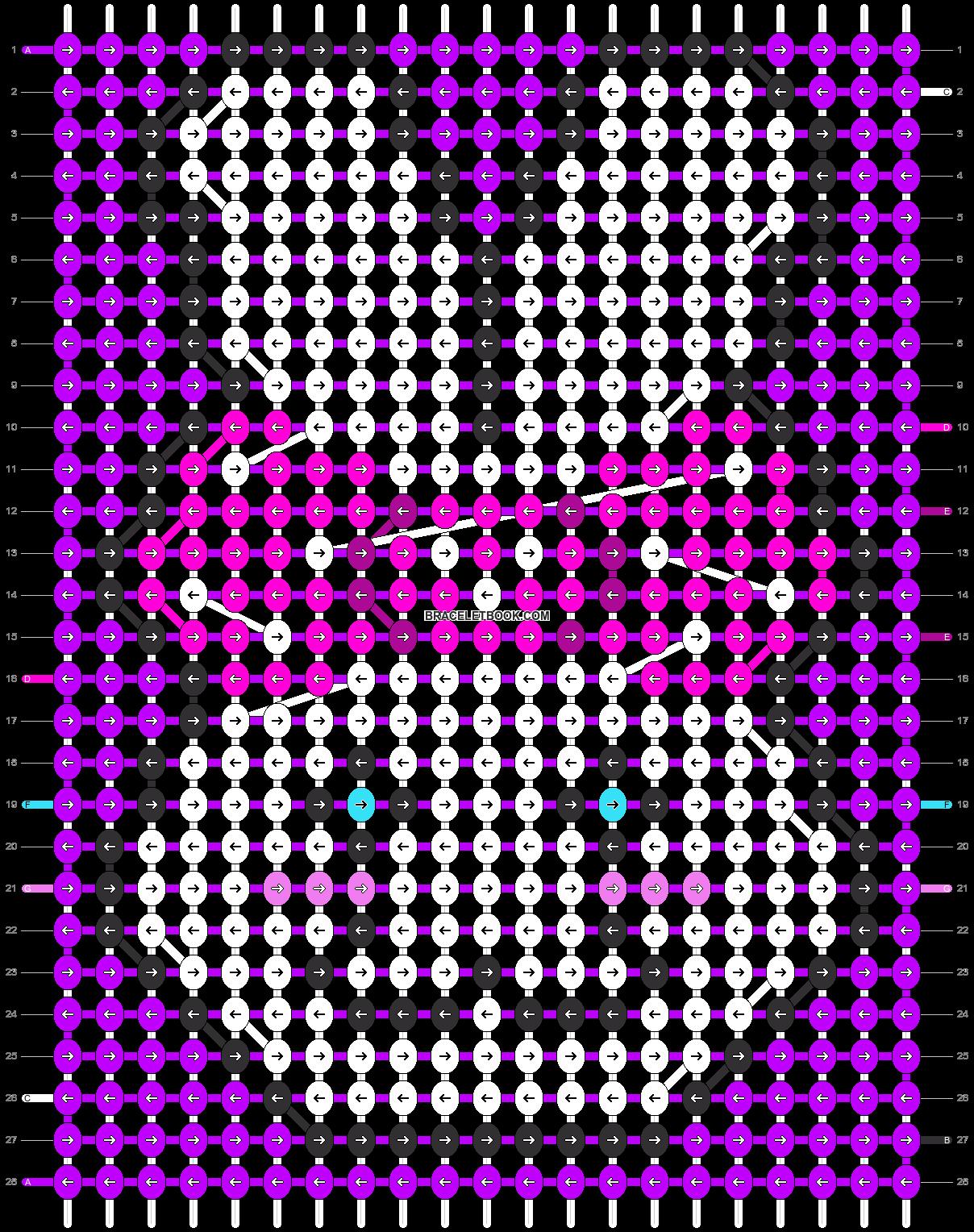Alpha pattern #1458 pattern