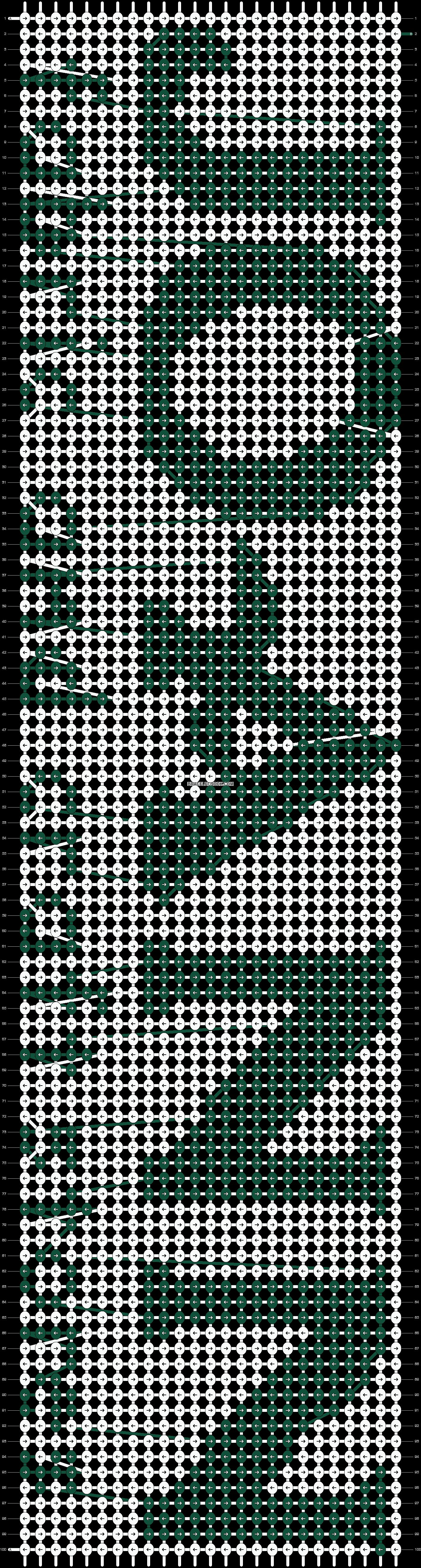 Alpha pattern #1461 pattern