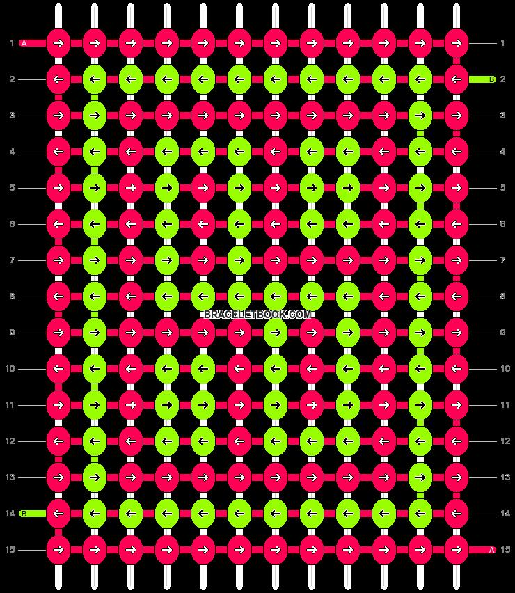 Alpha pattern #1608 pattern