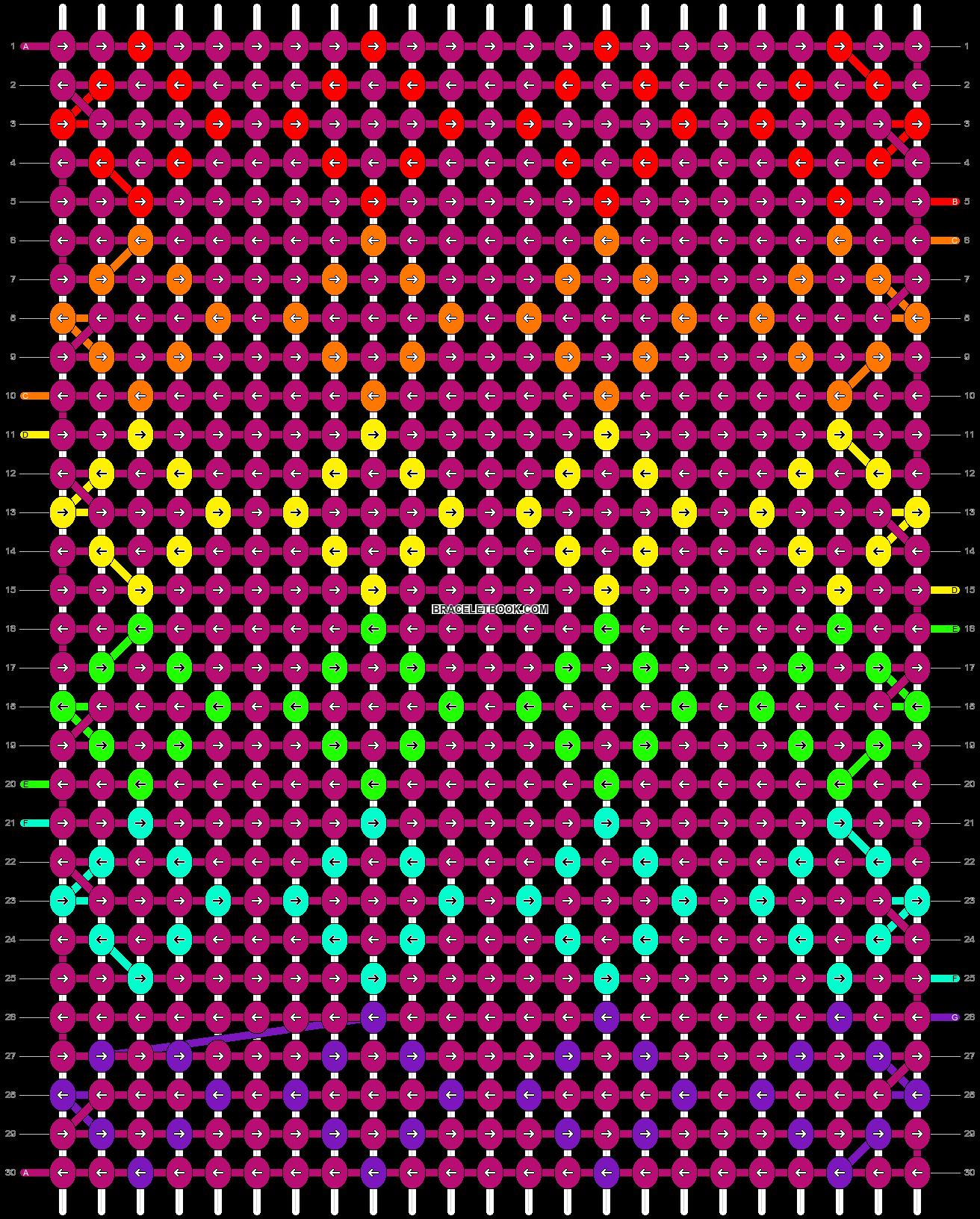 Alpha pattern #1614 pattern