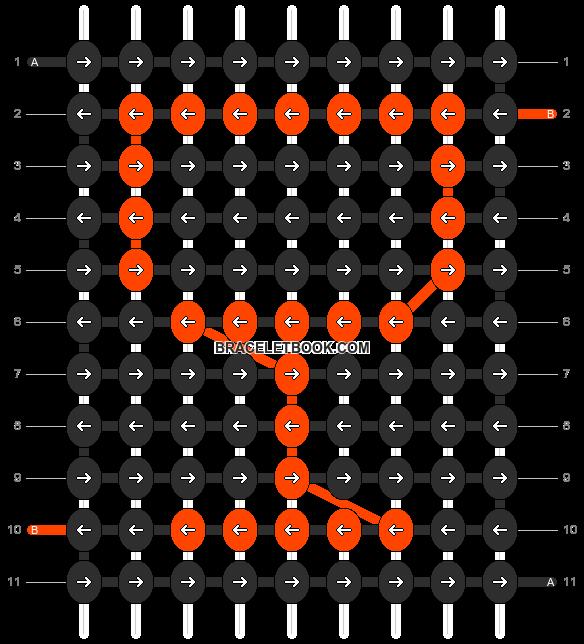 Alpha pattern #1664 pattern
