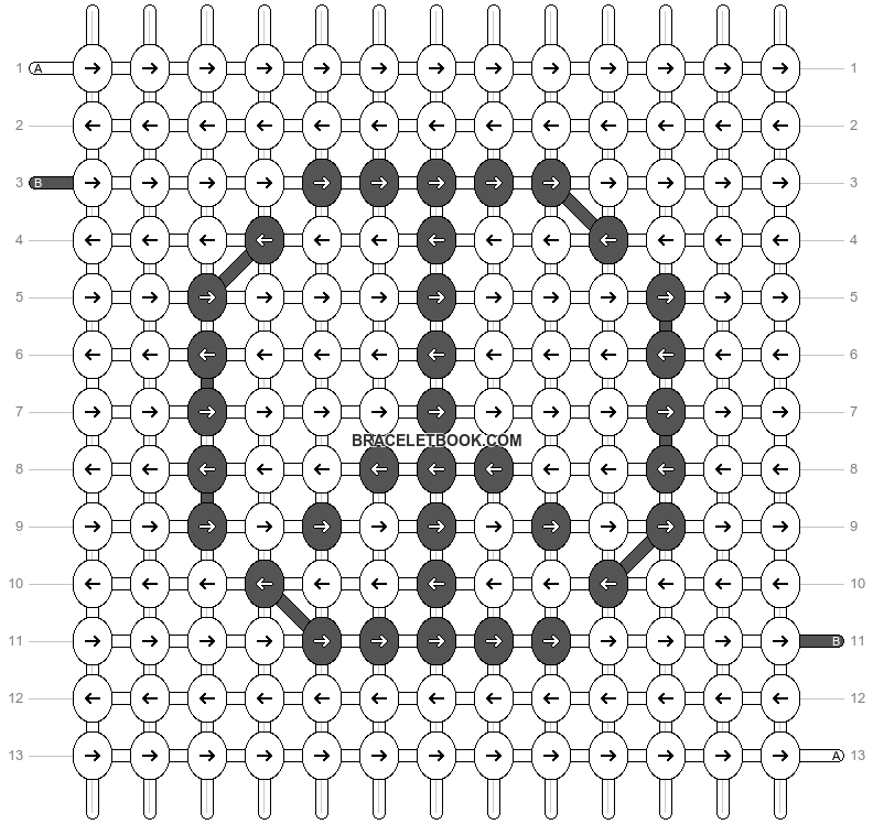 Alpha pattern #1709 pattern