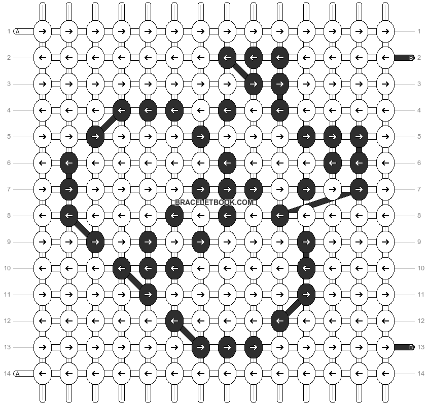 Alpha pattern #1723 pattern