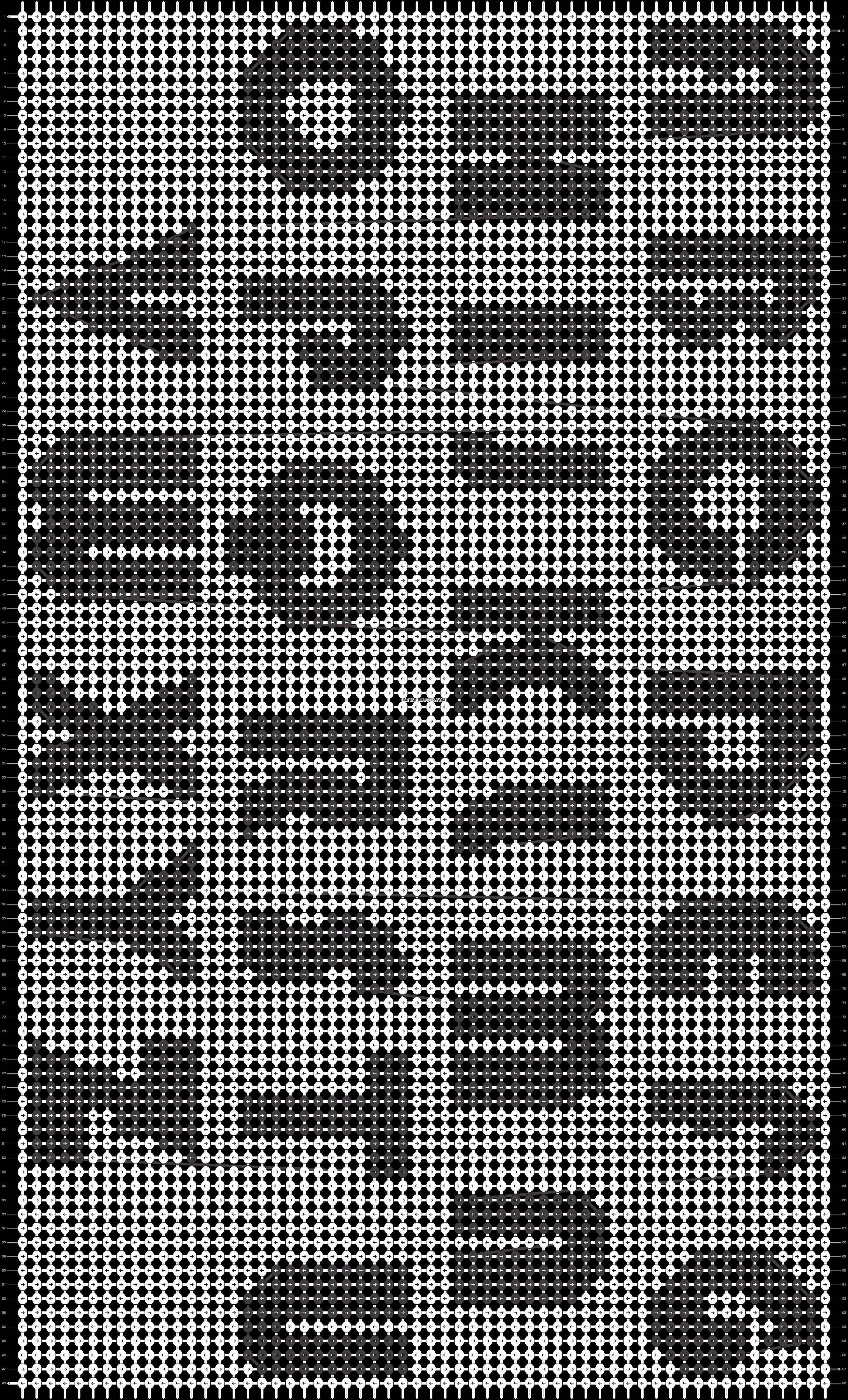 Alpha pattern #1760 pattern