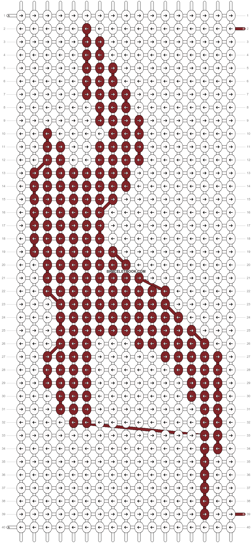 Alpha pattern #1805 pattern