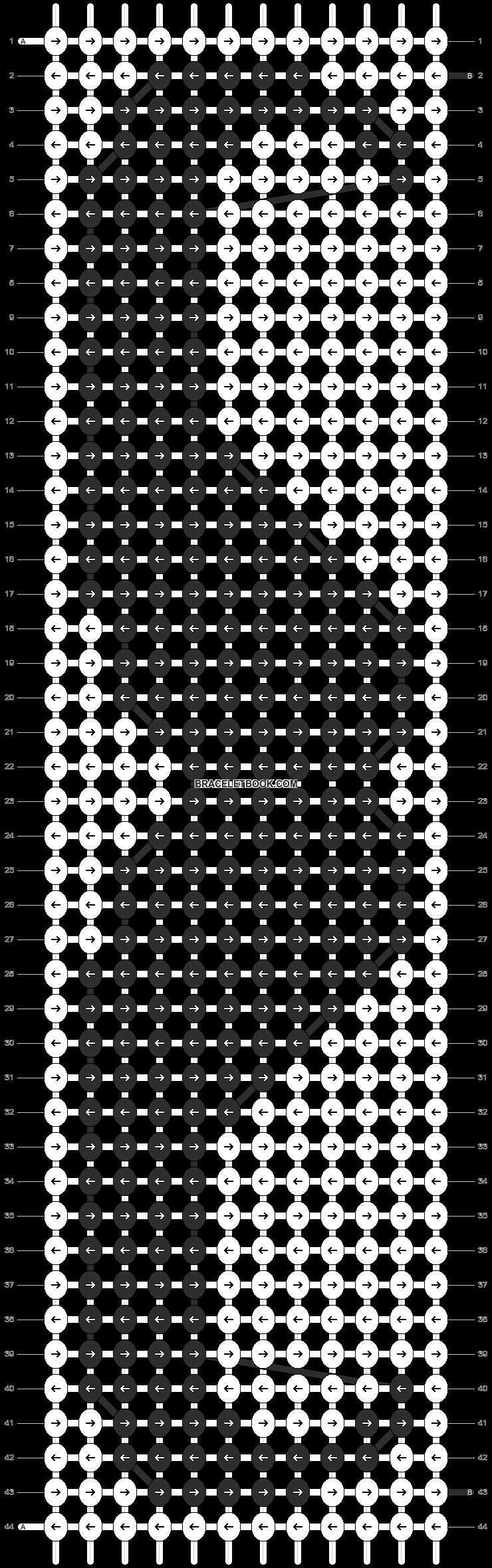 Alpha pattern #1830 pattern