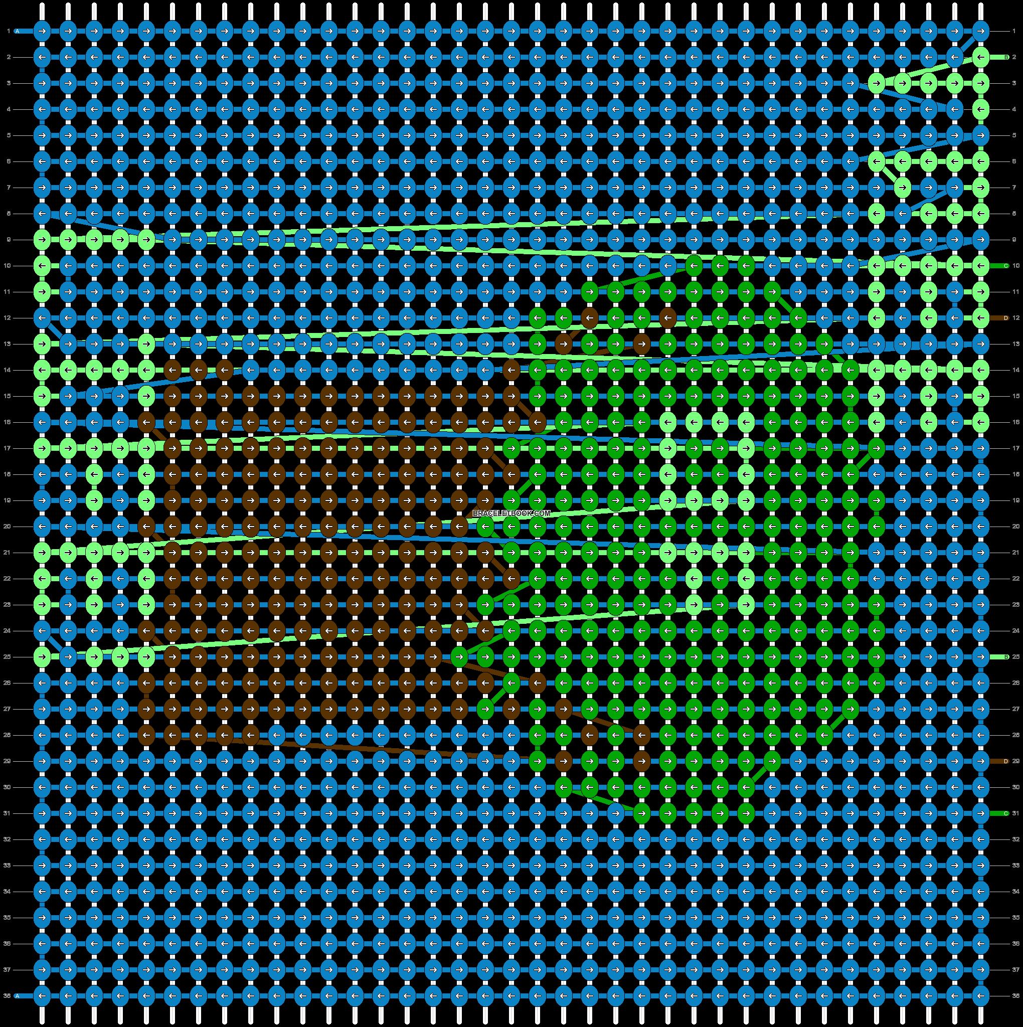 Alpha pattern #1836 pattern