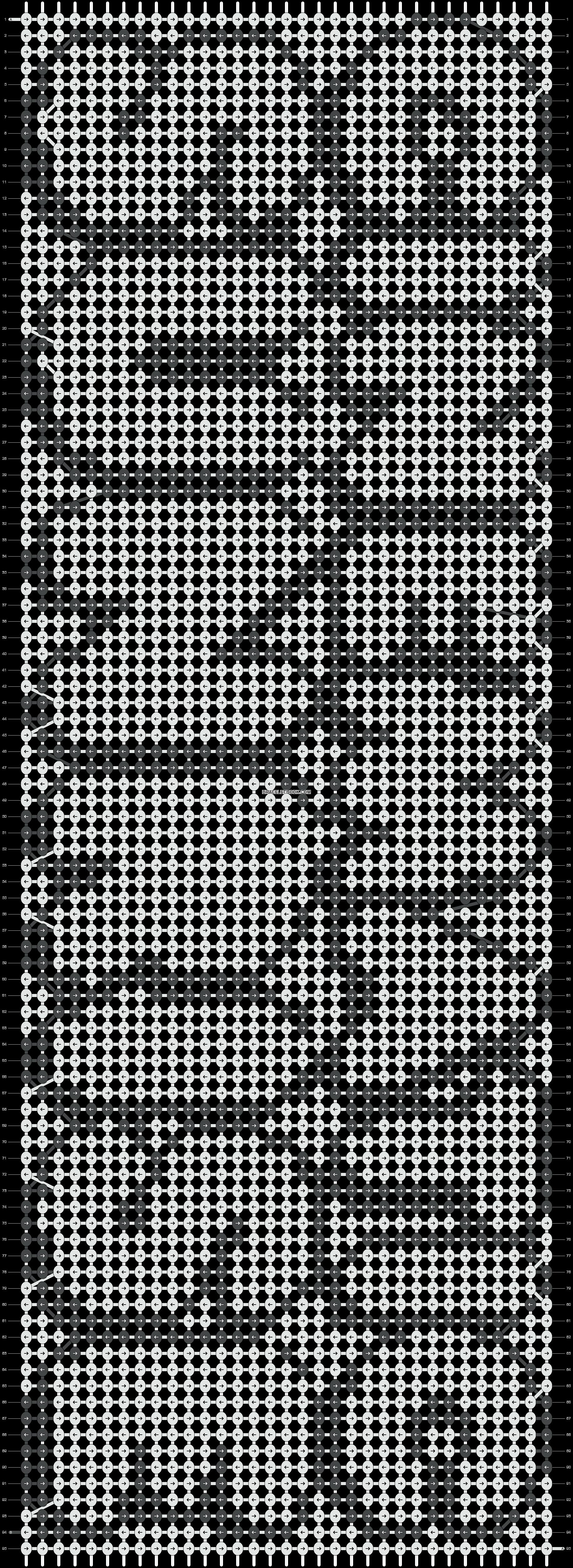 Alpha pattern #1953 pattern