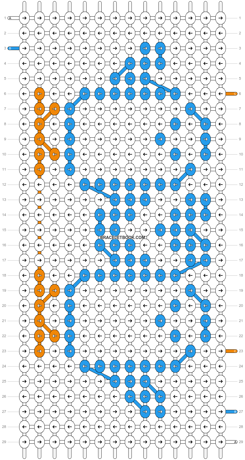 Alpha pattern #2029 pattern