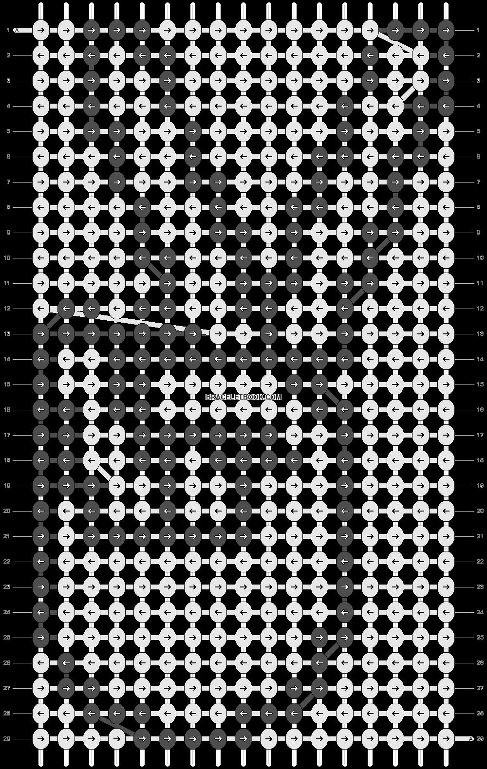 Alpha pattern #2055 pattern