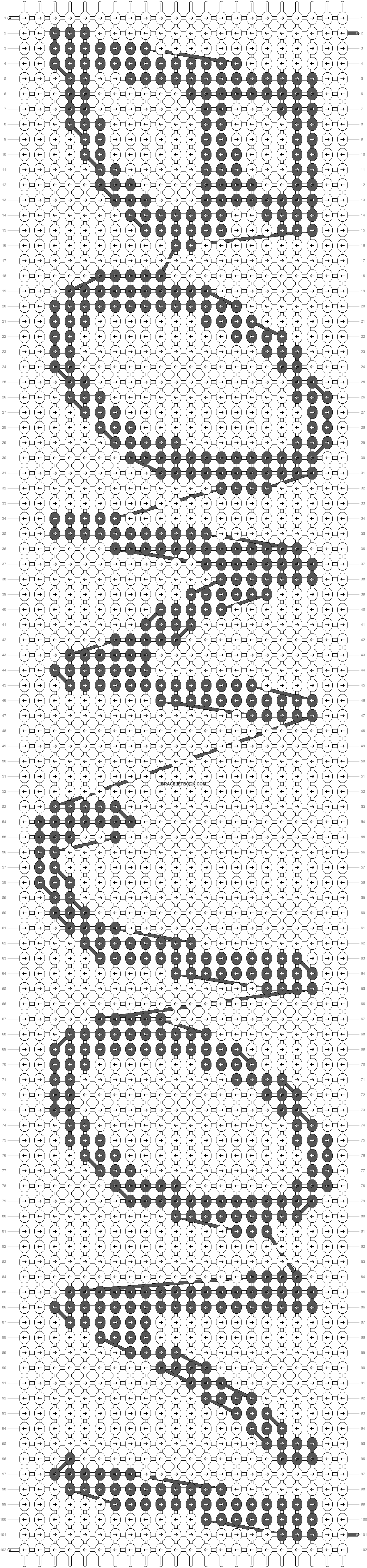 Alpha pattern #2100 pattern